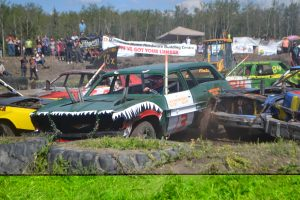The annual Triangle Demolition Derby and Mud Bog