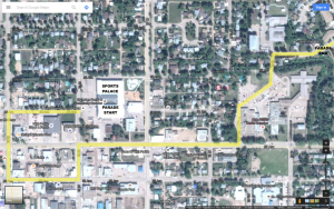 2016 Elk's Pro Rodeo Parade – Route Map