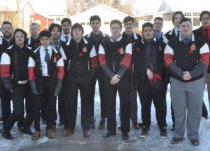 PICs – Legionnaires hockey team pays its respects