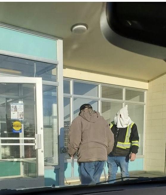 KKK hood spotted in Grimshaw?