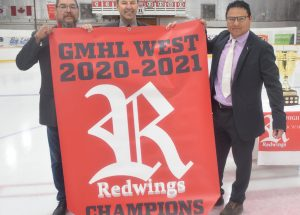 Red Wings raise championship banner